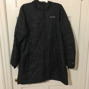 Columbia Mighty Lite Hooded Jacket Black Plus (2X)